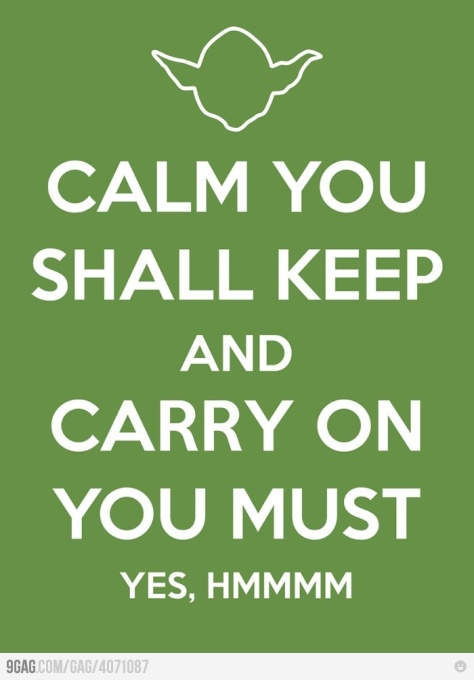 calm you should keep Yoda